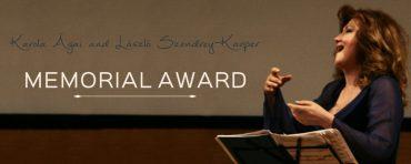 Karola Ágai & László Szendrey-Karper Memorial Award