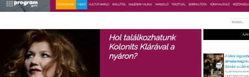 Where can we meet Klára Kolonits in summer?